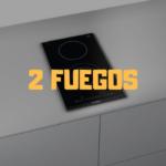 placa induccion 2 fuegos