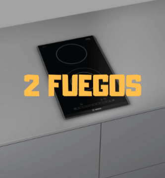 placa induccion 2 fuegos